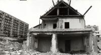 Ulice Slovácká počátkem 80. let při asanaci