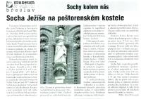 Socha Ježíše na poštorenském kostele