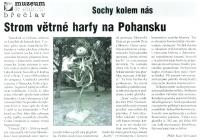 Strom větrné harfy na Pohansku